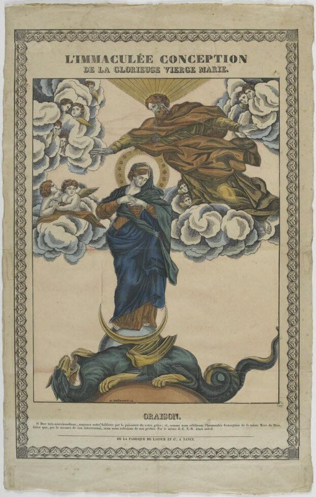 imagerie ancienne - L'IMMACULEE CONCEPTION DE LA GLORIEUSE VIERGE MARIE.
