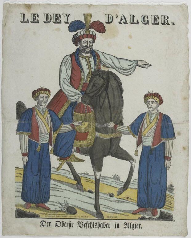 imagerie ancienne - LE DEY D'ALGER.