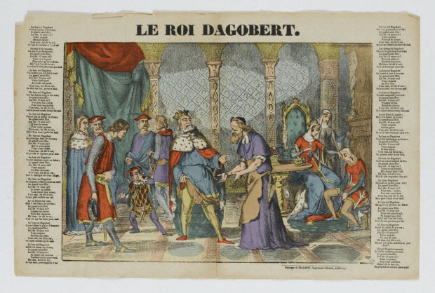 imagerie ancienne - LE ROI DAGOBERT.