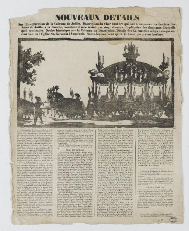 canard - NOUVEAUX DETAILS Sur l'Inauguration de la colonne de Juillet.