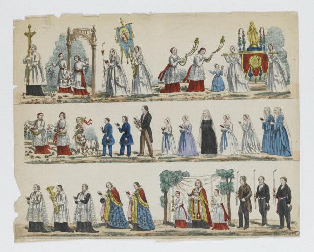 à registres (3) - Procession de la Vierge