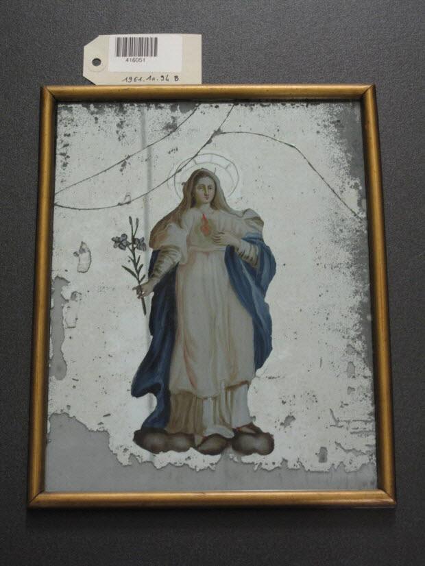 peinture sous verre - Sainte Vierge
