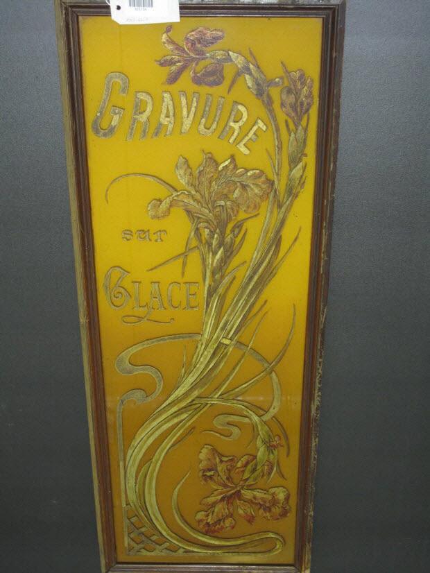 peinture sous verre - Gravure sur glace