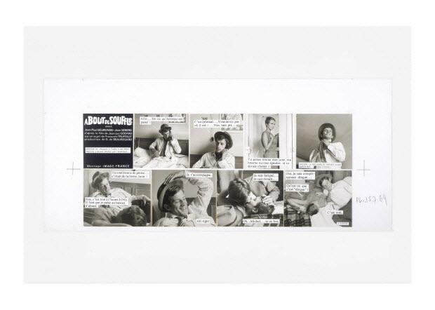 """Photographies - Maquette du ciné-roman """"A bout de souffle"""""""