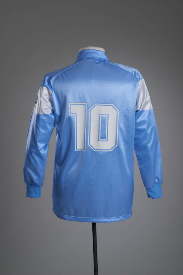 maillot de sport - Maillot porté par Diego Maradona avec l'équipe SSC.Naples (Società Sportiva Calcio Napoli) lors de la saison de série A 1990/91