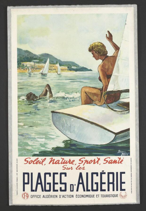 affiche - Soleil, Nature, Sport, Santé Sur les PLAGES D'ALGÉRIE