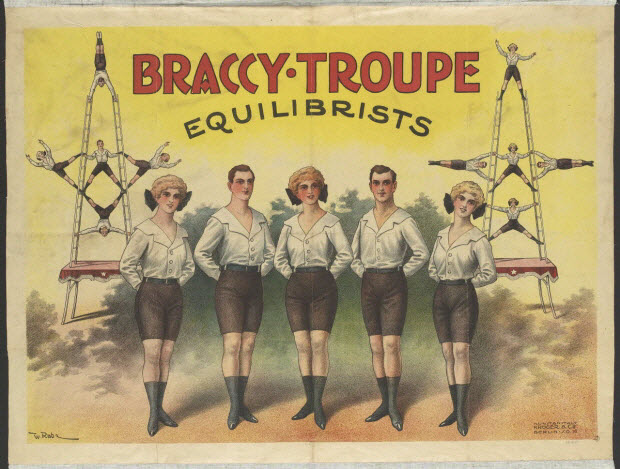 affiche - BRACCY.TROUPE EQUILIBRISTS