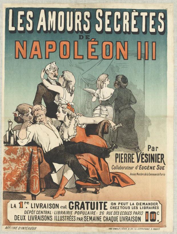 affiche - LES AMOURS SECRÈTES DE NAPOLÉON III