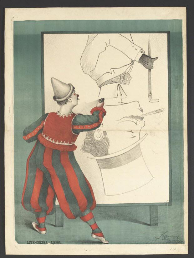 affiche - Clown portraitiste