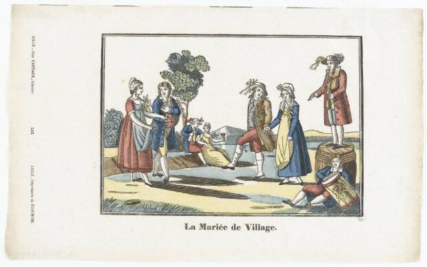 imagerie ancienne - La Mariée de Village.