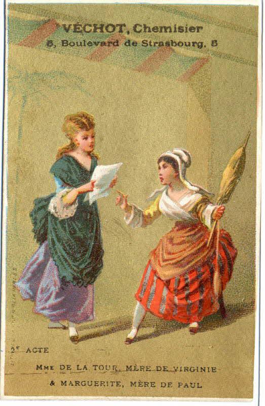 carte réclame - 2e ACTE MME DE LA TOUR, MERE DE VIRGINIE ET MARGUERITE, MERE DE PAUL