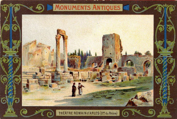 carte réclame - THEATRE ROMAIN d'ARLES (Bes. du Rhône)