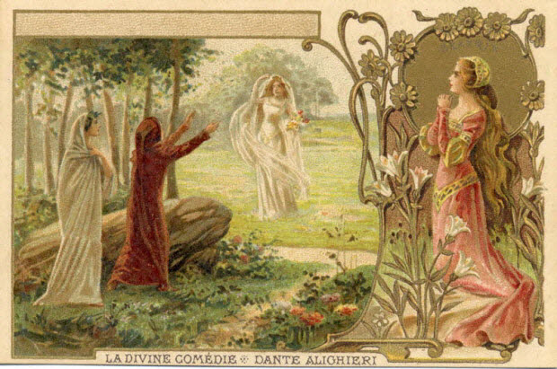 carte réclame - LA DIVINE COMEDIE - DANTE ALIGHIERI BEATRIX