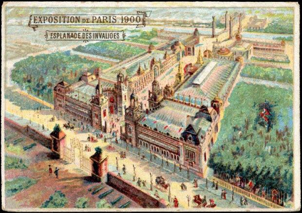 carte réclame - EXPOSITION DE PARIS 1900 ESPLANADE DES INVALIDES