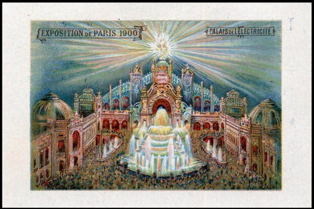 carte réclame - EXPOSITION DE PARIS 1900 PALAIS DE L'ELECTRICITE