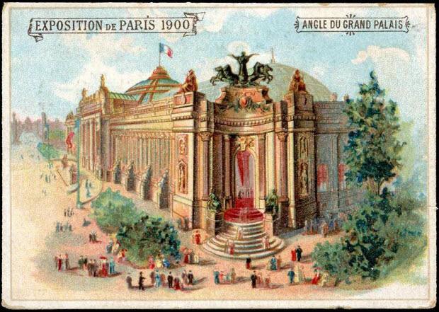 carte réclame - EXPOSITION DE PARIS 1900 ANGLE DU GRAND PALAIS
