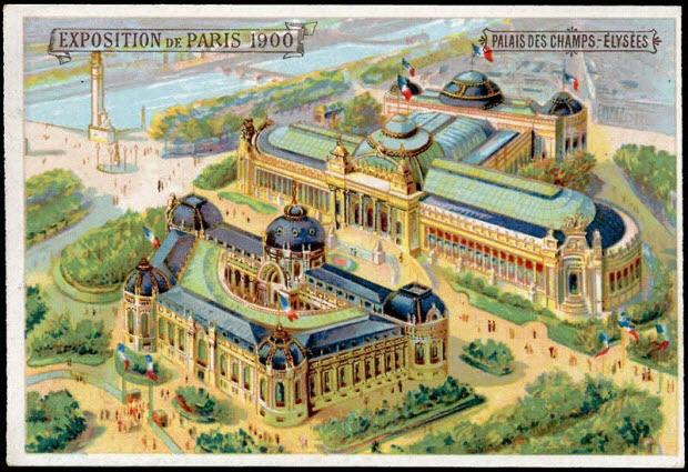 carte réclame - EXPOSITION DE PARIS 1900 PALAIS DES CHAMPS ELYSEES