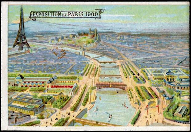 carte réclame - EXPOSITION DE PARIS 1900