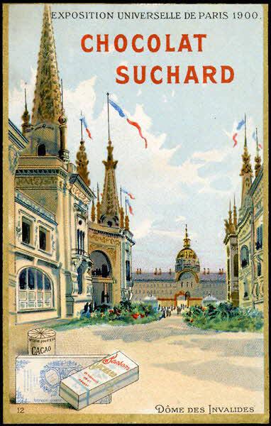 carte réclame - EXPOSITION UNIVERSELLE DE PARIS 1900. DOME DES INVALIDES