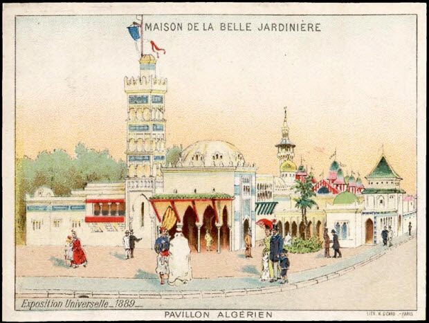 carte réclame - PAVILLON ALGERIEN