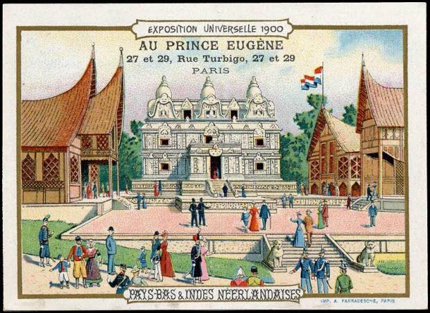 carte réclame - EXPOSITION UNIVERSELLE 1900 PAYS-BAS & INDES NEERLANDAISES
