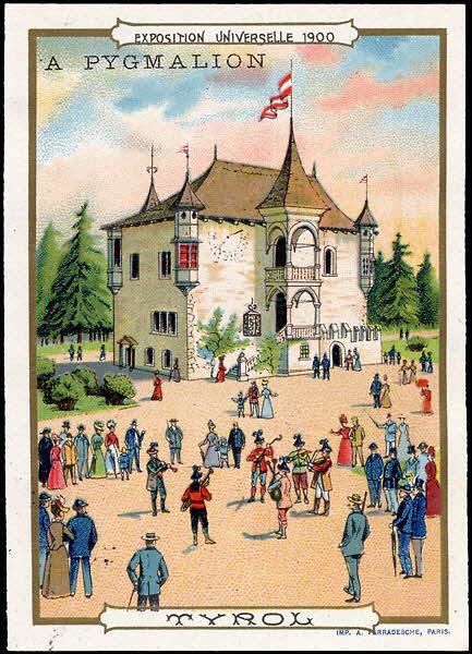 carte réclame - EXPOSITION UNIVERSELLE 1900 TYROL