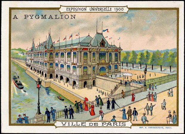 carte réclame - EXPOSITION UNIVERSELLE 1900 VILLE DE PARIS