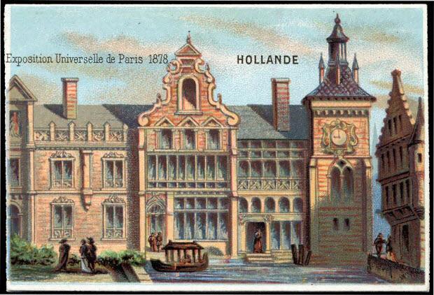 carte réclame - Exposition Universelle de Paris 1878 HOLLANDE