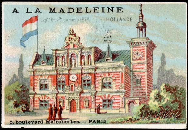 carte réclame - Exp.on Univ.lle de Paris 1878 HOLLANDE