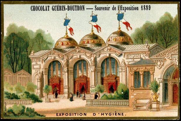 carte réclame - Souvenir de l'Exposition 1889 EXPOSITION D'HYGIENE.