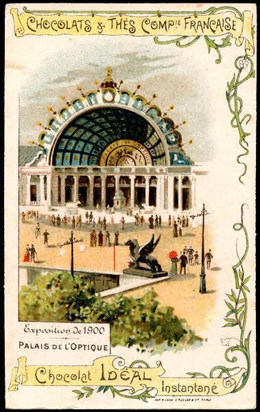 carte réclame - Exposition de 1900 PALAIS DE L'OPTIQUE