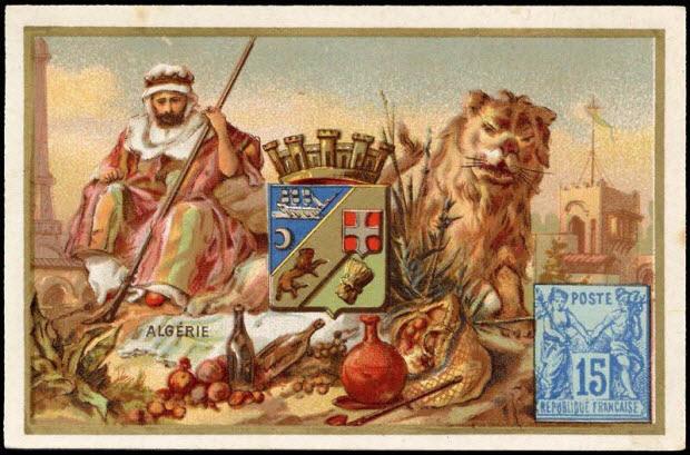 carte réclame - ALGERIE