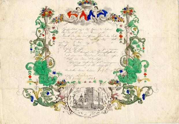 lettre de baptême - Hochgelobet seyst du