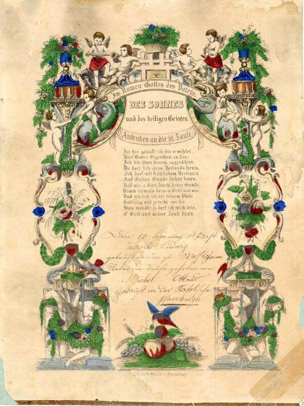 lettre de baptême - DES SOHNES und des heiligen Geistes