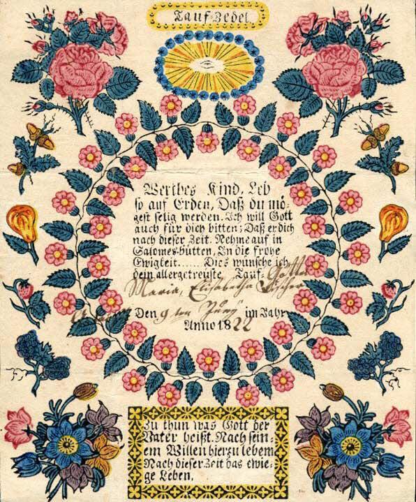 lettre de baptême - Tauf-Zedel
