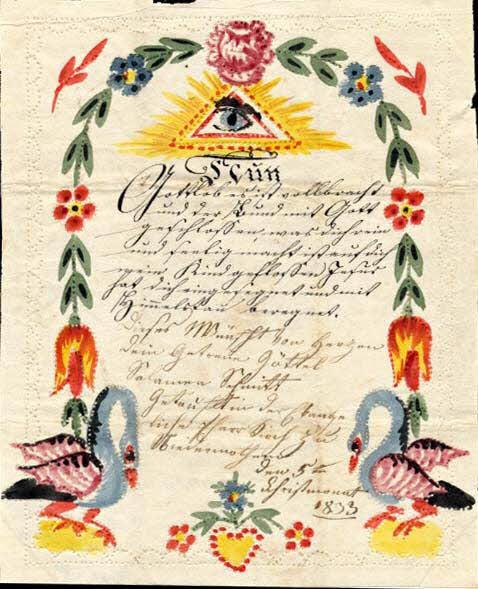 lettre de baptême - Nun Gottlob es ist vollbracht