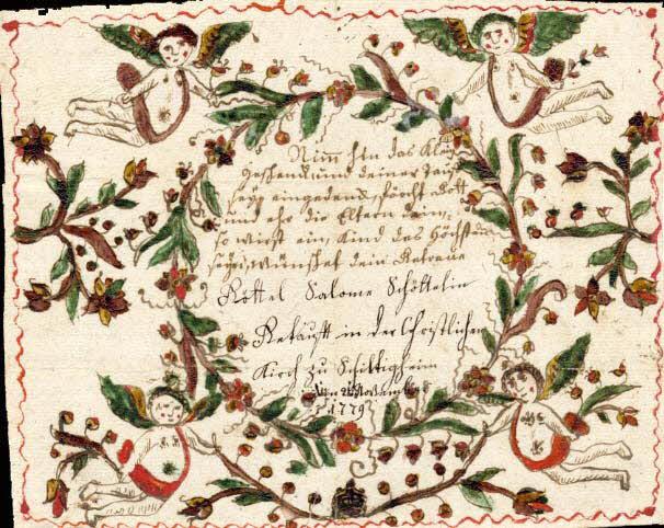 lettre de baptême - Nimm hin
