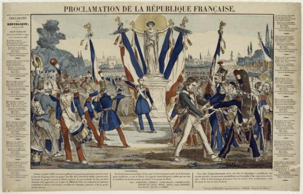 estampe - PROCLAMATION DE LA REPUBLIQUE FRANCAISE.