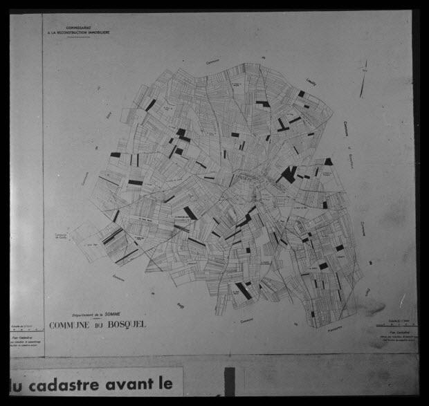 photographie - Deuxième planche de cadastre avant remembrement de 1933. Exploitation moyenne de 60 hectares