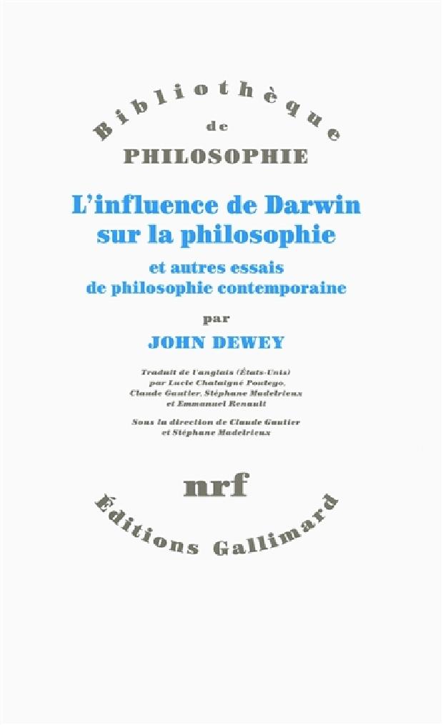Livre - L'influence de Darwin sur la philosophie