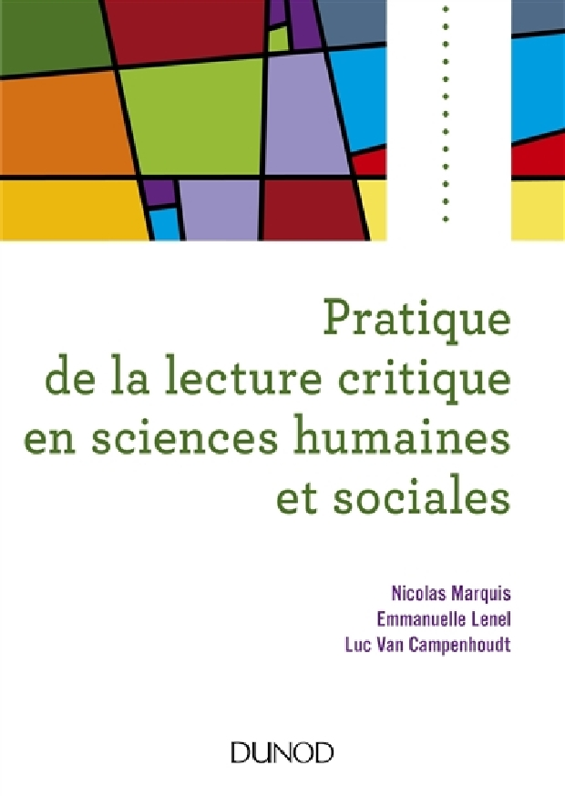 Livre - Pratique de la lecture critique en sciences humaines et sociales