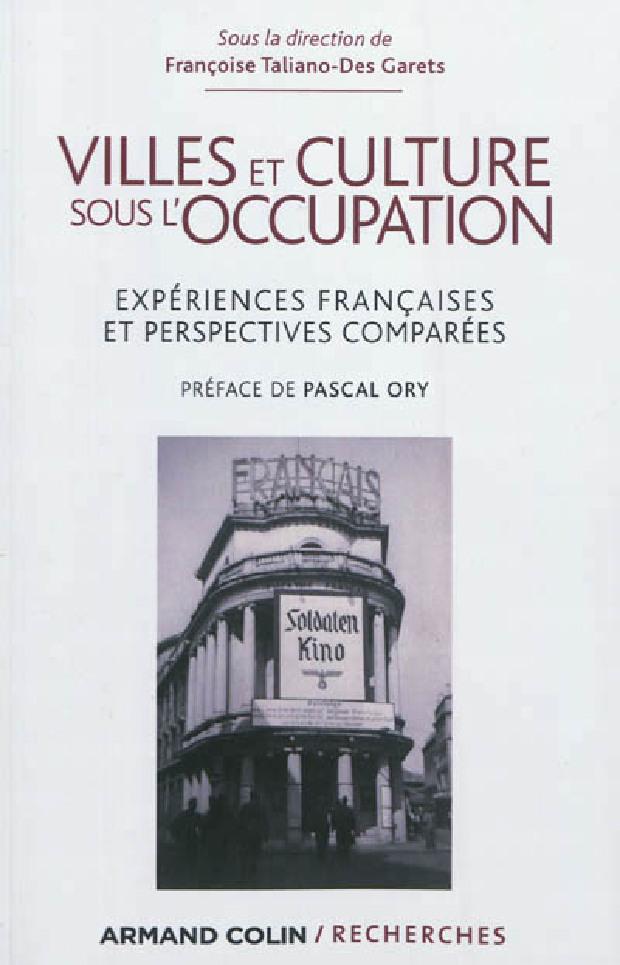 Livre - Villes et culture sous l'Occupation