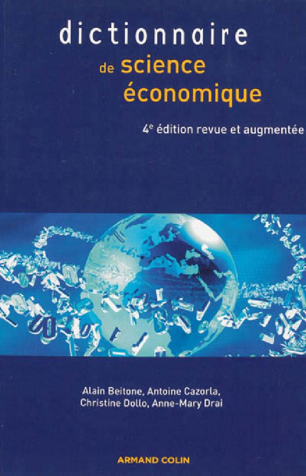 Livre - Dictionnaire de science économique