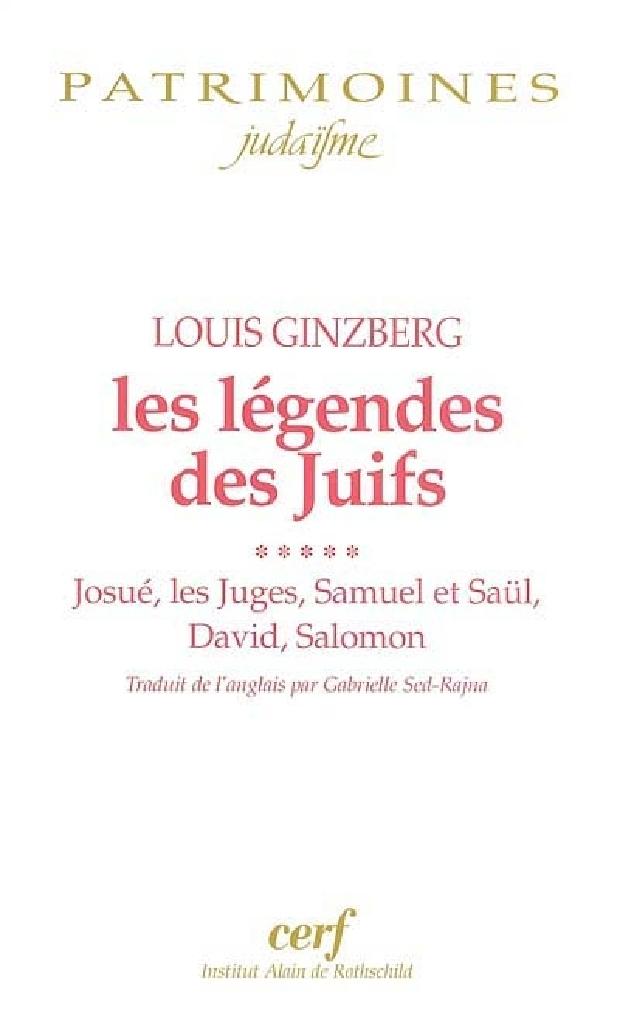 Livre - Les légendes des Juifs