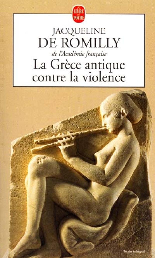 Livre - La Grèce antique contre la violence
