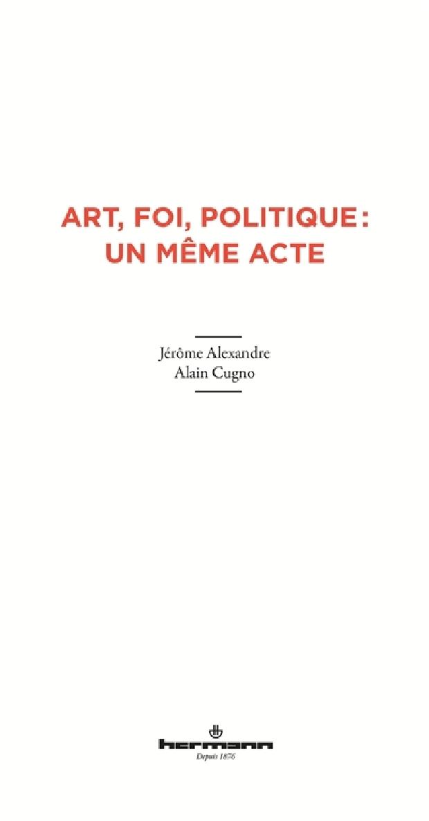 Livre - Art, foi, politique