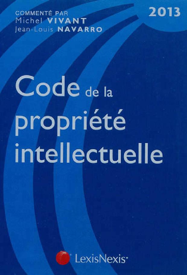 Livre - Code de la propriété intellectuelle, 2013