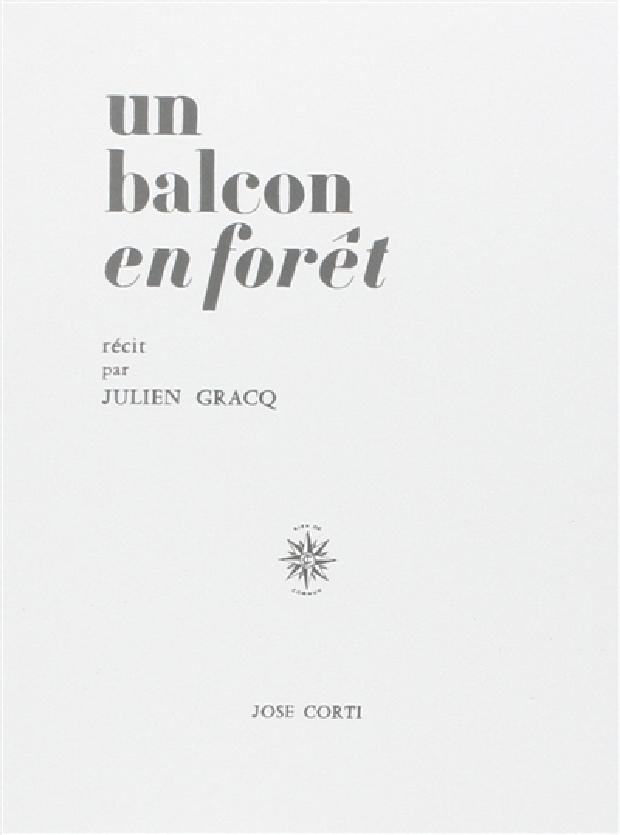 Livre - Un balcon en forêt