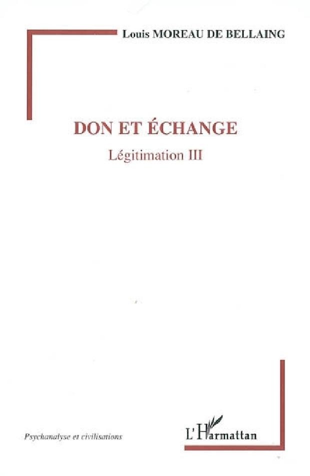 Livre - Don et échange
