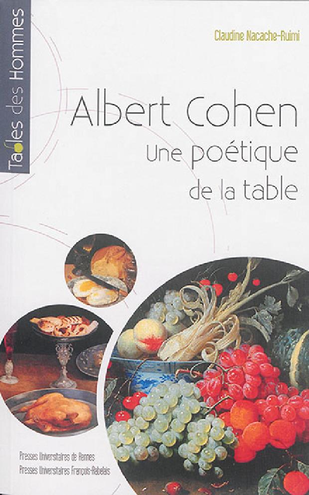 Livre - Albert Cohen, une poétique de la table